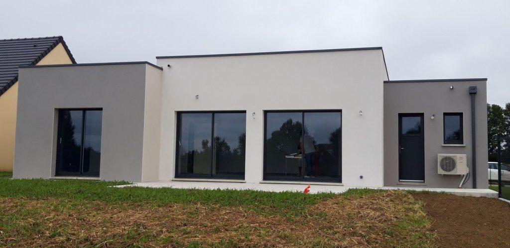 Construction maison moderne de plain pied à Saint-Paterne